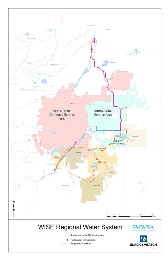 WISE System Map via the South Metro Water Supply Authority