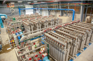 The Colorado Department of Public Health and Environment provided regulatory approval for the first-time use of ceramic membrane filters for a drinking water system in the U.S. (Photo courtesy of Dewberry)