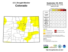 Colorado Drought Monitor September 29, 2015