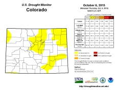 Colorado Drought Monitor October 6, 2015