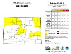 Colorado Drought Monitor October 27, 2015
