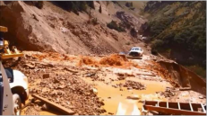 This image was taken during the peak outflow from the Gold King Mine spill at 10:57 a.m. Aug. 5. The waste-rock dump can be seen eroding on the right. Federal investigators placed blame for the blowout squarely on engineering errors made by the Environmental Protection Agency's-contracted company in a 132-page report released Thursday [October 22, 2015]