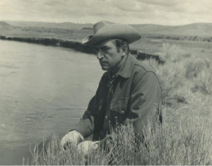 Luna Leopold in the mid-1970s along the East Fork River in Wyoming. Photo courtesy of U.C. Berkeley