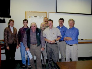 Luna Leopold (3rd from left) visiting the USGS Wisconsin Water Science Center in 2002.