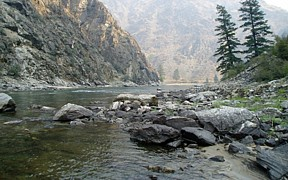 Middle fork of the Salmon River near Shoup, Idaho