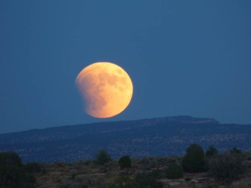 Blood Moon Harvest Moon Eclipse Moon over Hovenweep