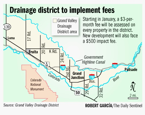 Grand Valley Drainage District boundaries -- Robert Garcia The Grand Junction Daily Sentinel