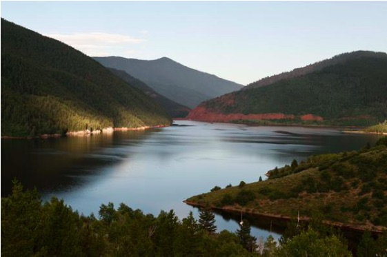 Sunrise at Ruedi Reservoir October 20, 2015. Photo via USBR.