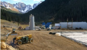 The EPA's wastewater treatment plant near Silverton, Colorado, on Thursday, Oct. 16, 2015 -- photo via Grace Hood Colorado Public Radio