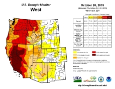 West Drought Monitor October 20, 2015
