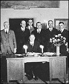 President Hoover at the signing of the Colorado River Compact.