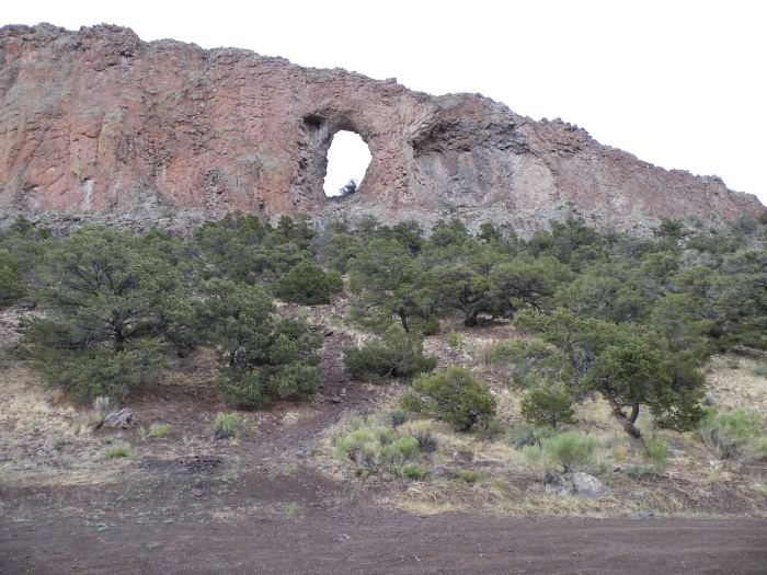 Natural arch in lava flow near Del Norte via the USFWS