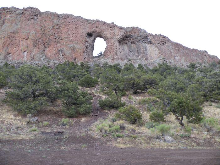 Natural arch in lava flow near Del Norte via the USFWS