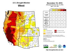 West Drought Monitor November 10, 2015