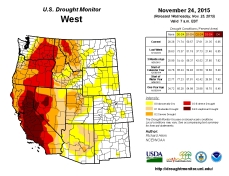 West Drought Monitor November 24, 2015