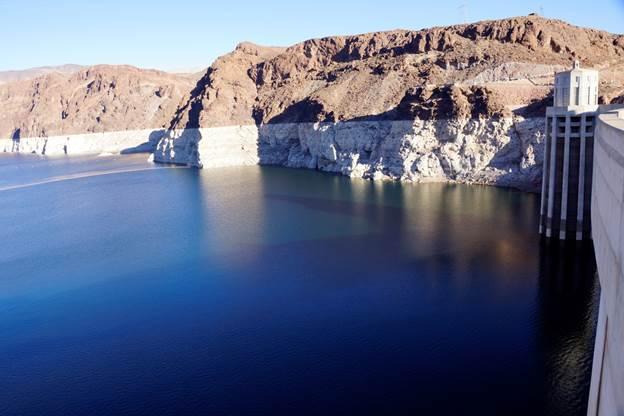 Lake Mead behind Hoover Dam December 2015 via Greg Hobbs.