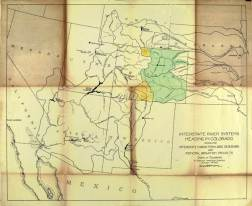 Delph Carpenter's 1922 Colorado River Basin map with Lake Mead and Lake Powell