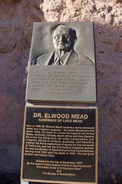 Elwood Mead memorial at Hoover Dam photo via Greg Hobbs