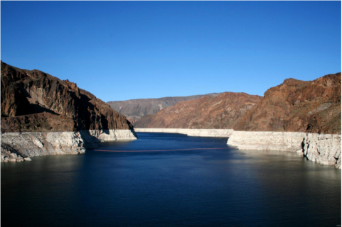 The Colorado River supplies water to Lake Mead, the largest man-made reservoir in terms of capacity in the United States. New research from The University of Texas at Austin has found natural variability, not humans, have the most impact on water stored in the river and the sources that feed it. U.S. Geological Survey