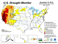 US Drought Monitor December 15, 2015