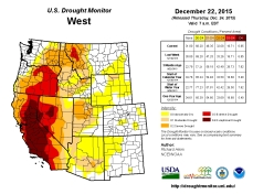 West Drought Monitor December 22, 2015