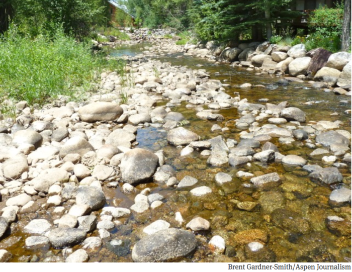 Roaring Fork River in early July 2012 via Aspen Journalism
