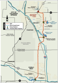 Southern Delivery System map via Colorado Springs Utilities