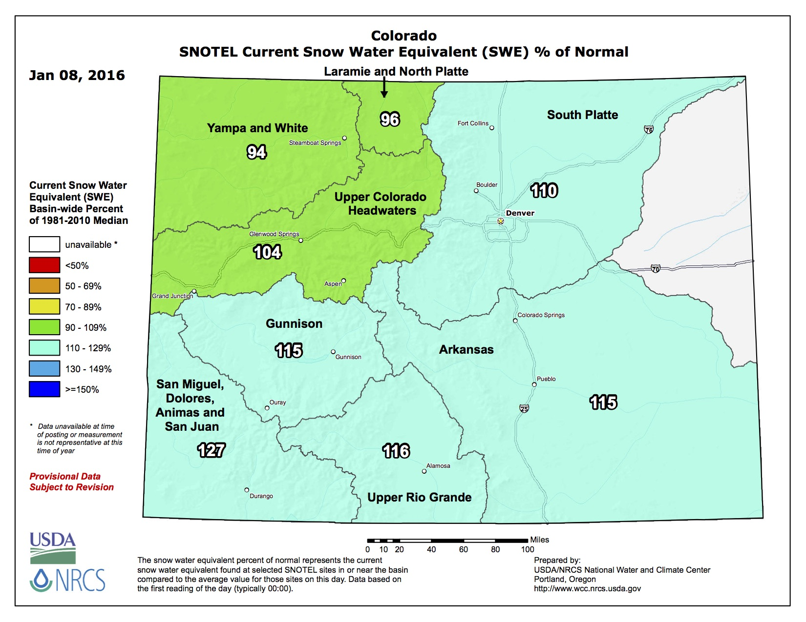 colorado snowpack conditions favorable to start the 2016 water