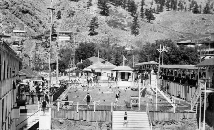 El Dorado Springs pool back in the day via the Denver Public Library