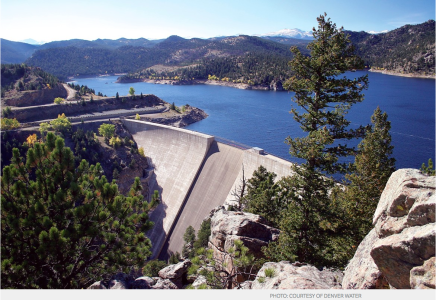 Denver Water is seeking approvals from the U.S. Army Corps of Engineers, the U.S. Fish and Wildlife Service, and the state of Colorado to expand Gross Reservoir, which is southwest of Boulder. The 77,000 acre-foot expansion would help forestall shortages in Denver Water's water system and offer flood and drought protection, according to Denver Water.