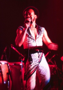 Maurice White performing in 1982, with Earth, Wind, and Fire at the Ahoy Rotterdam, The Netherlands. Photo via Wikipedia.com.