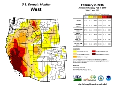 West Drought Monitor February 2, 2016