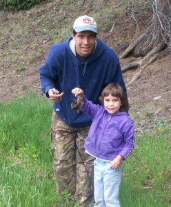 Mike King with his daughter Sydney.