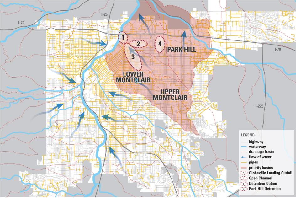 Denver: Montclair and Park Hill basins stormwater design
