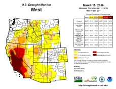 West Drought Monitor March 15, 2016