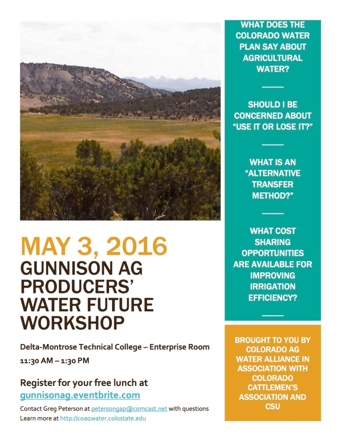 Ag Workshop Gunnison Flyer