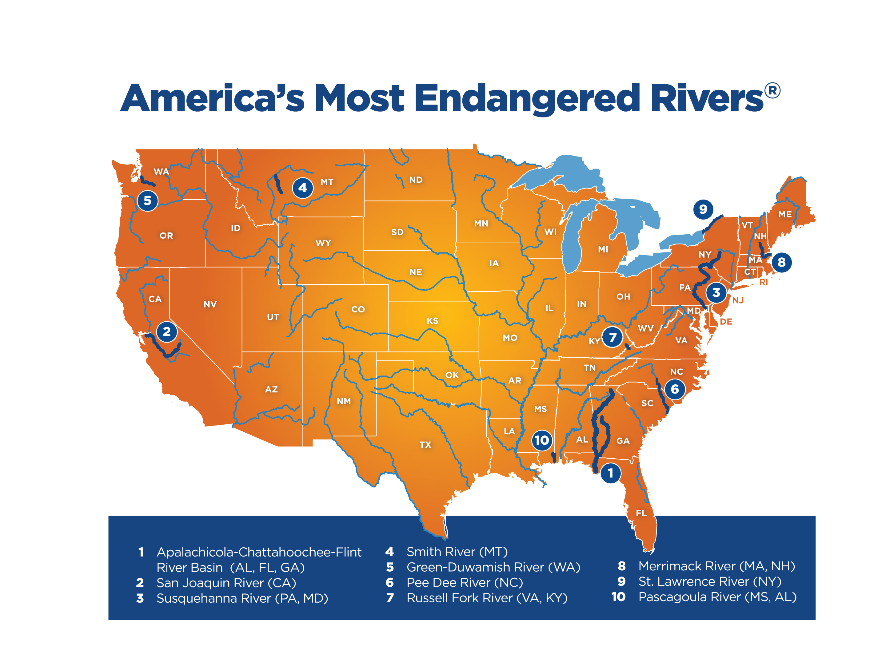 America's Most Endangered Rivers for 2016 — @AmericanRivers ... on pend oreille river washington state map, columbia river washington state map, skagit river washington state map, snake river washington state map,