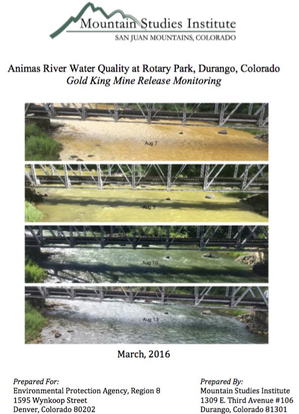animasriverrwaterqualityatrotaryparkmoutainstudiesinstitutecover