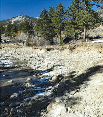Stabilization Project - After photo was taken in 2016 after completion of Phase I. Photo the Town of Estes Park.