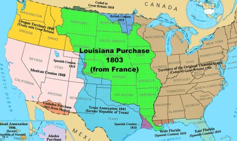 US Westward expansion and the acquisition of federal land, via Library.net.