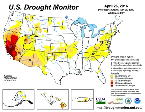 US Drought Monitor April 26, 2016