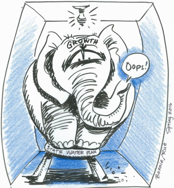 Spring 2016 Water Information Program newsletter cartoon.