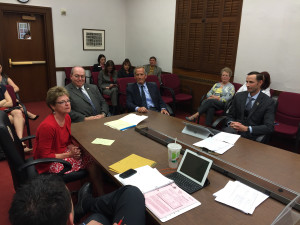 Patti Wells (far left) at her reappointment to the Colorado Water Conservation Board.