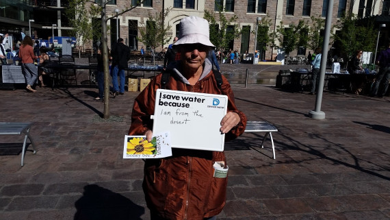 """I save water because I am from the desert."""