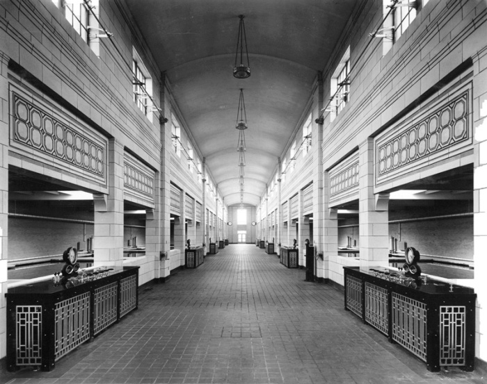 "This view of Moffat Treatment Plant's corridor was taken in 1939. Photo via <a href=""https://twitter.com/search?q=%40denverwater&src=typd"">@DenverWater</a>."