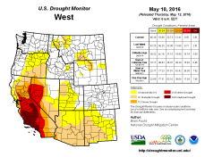 West Drought Monitor May 10, 2016.