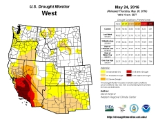 West Drought Monitor May 24, 2016.