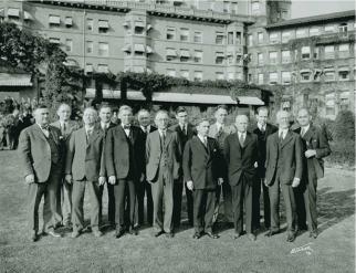 The first Metropolitan Water District Board of Directors' meeting in Pasadena, December 1928. Photo via the Metropolitan Water District of Southern California.