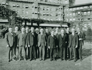 The first Metropolitan Water District Board of Directors' meeting in Pasadena, December 1928. Photo via the Metropolitan Water District of Southern California.