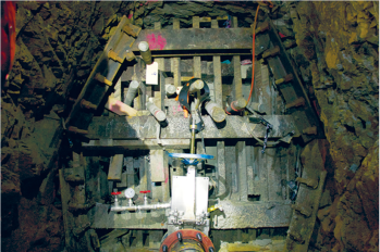 Bulkheads, like this one at the Red and Bonita Mine, help stop mine water discharges and allow engineers to monitor the mine pool. Credit: EPA.
